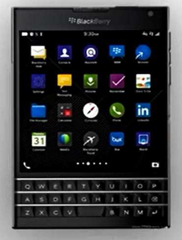 BlackBerry Passport mobile technology