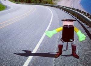 Technology news is getting exciting for the hitchhiking robot
