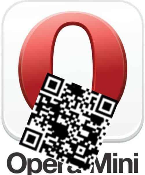 Opera Mini QR code reader