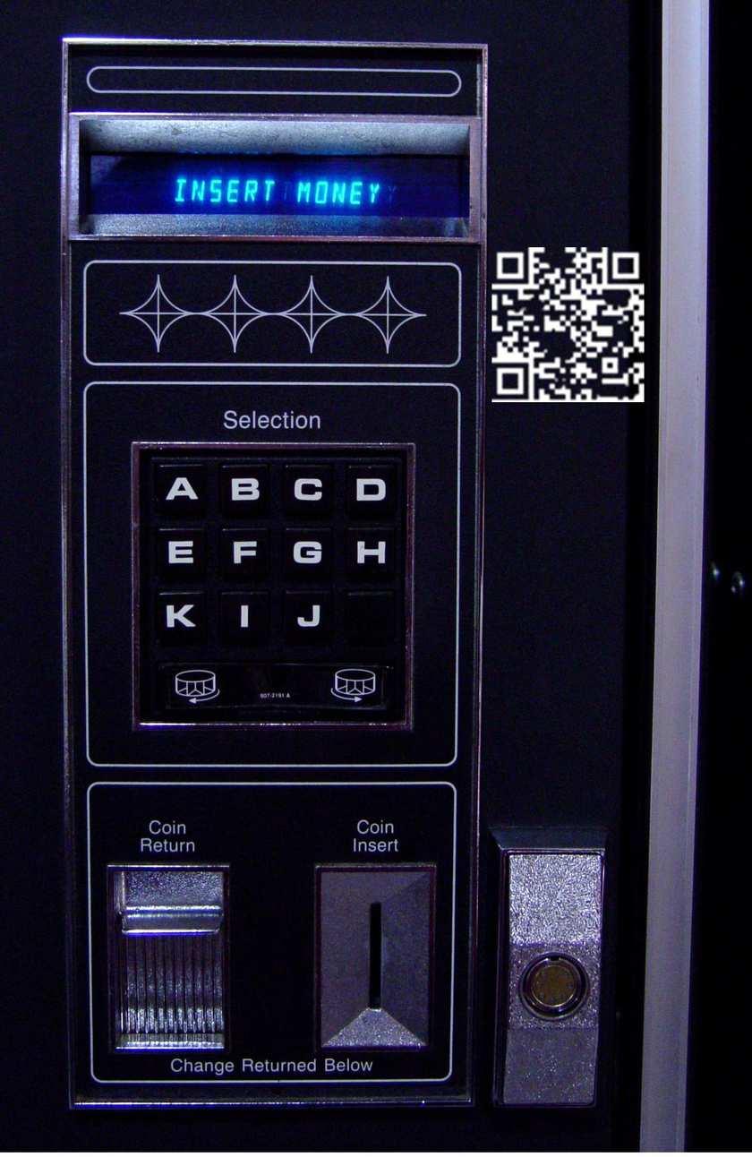 qr codes vending machine