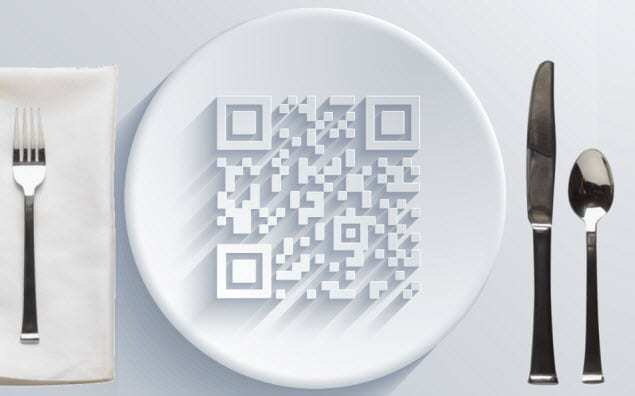 edible qr codes restaurant