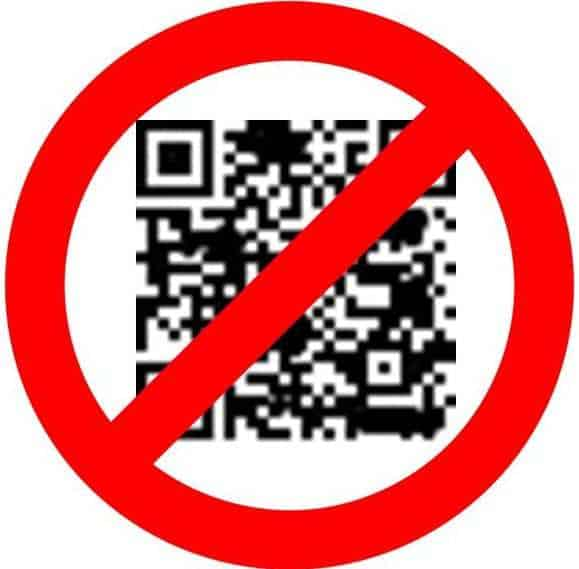QR codes - no cancelled