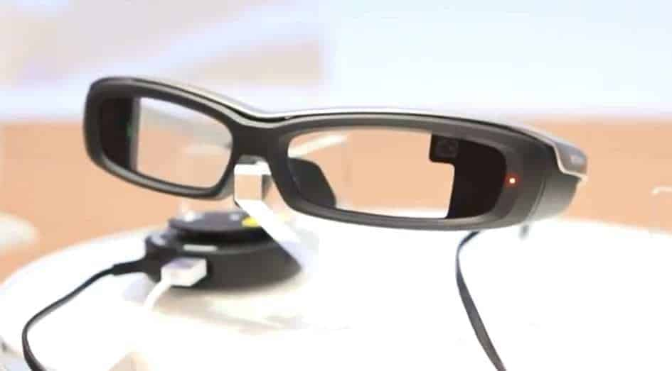 Sony Smart eyeglass augmented reality glasses