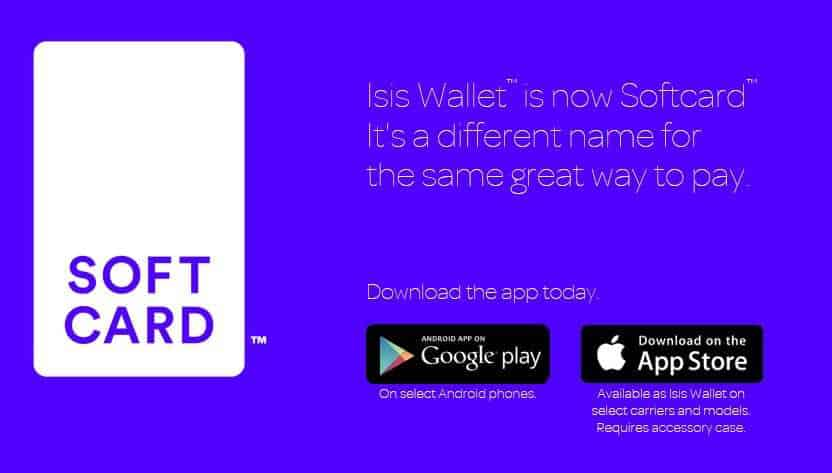 isis mobile wallet softcard website