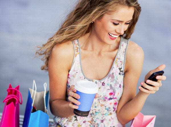 in store mobile commerce shopping coffee