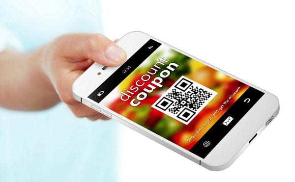 qr code usage mobile coupon