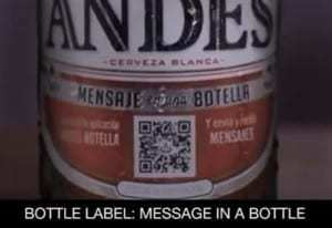 QR codes allow consumers to send a message in a (beer) bottle