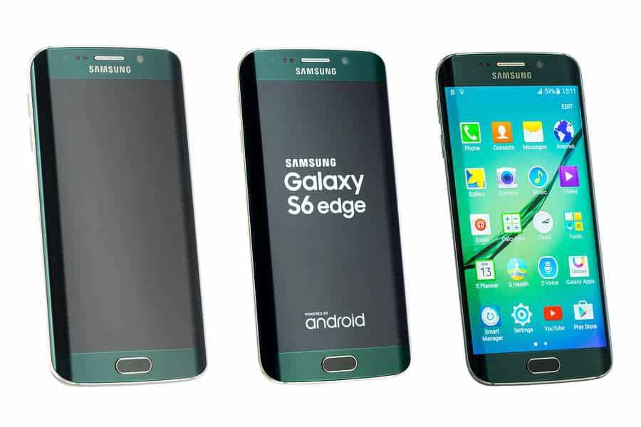 Samsung phones green Galaxy S6 edge mobile web browser