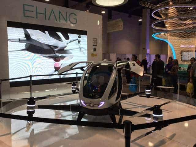 Ehang 184 PFV human passenger drone