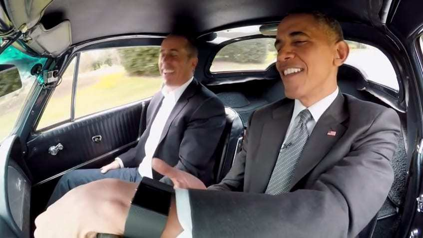 President Barack Obama Jerry Seinfeld Comedians in Cars Getting Coffee Smartwatch FItbit Surge