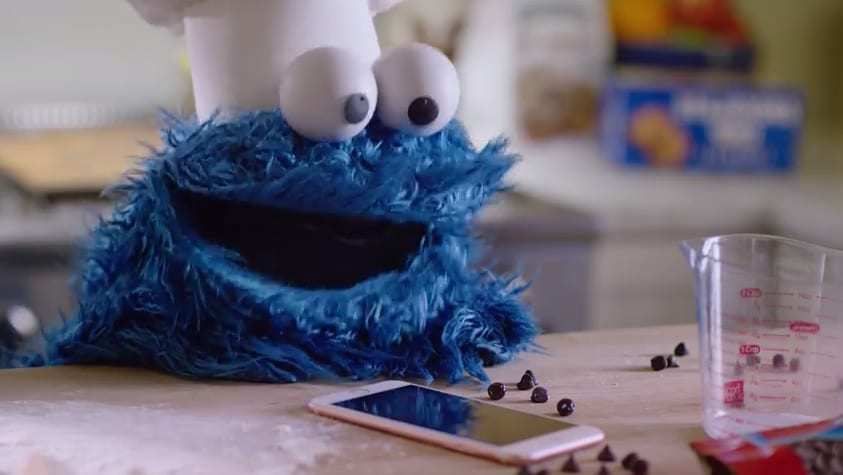 cookie monster mobile ad