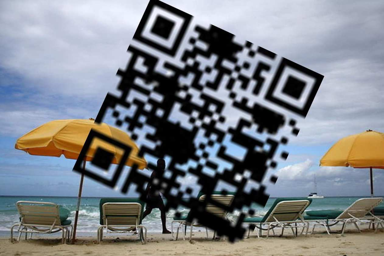 tourism QR codes beach