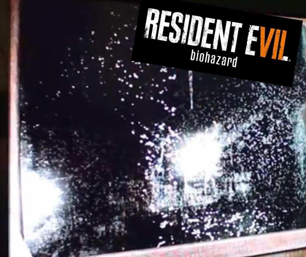Resident Evil 7 QR Code in mirror - Biohazard