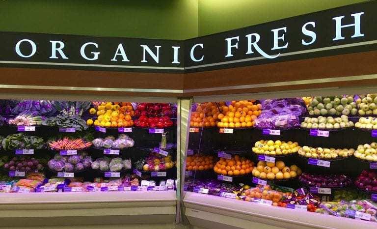 GMO qr code labels food organic