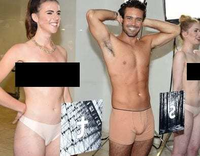 London augmented reality marketing campaign let shoppers dress semi-naked models