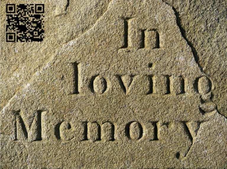 qr code grave stones