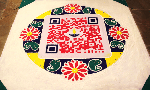 QR Code Rangoli: Diwali festival goes digital in 2016