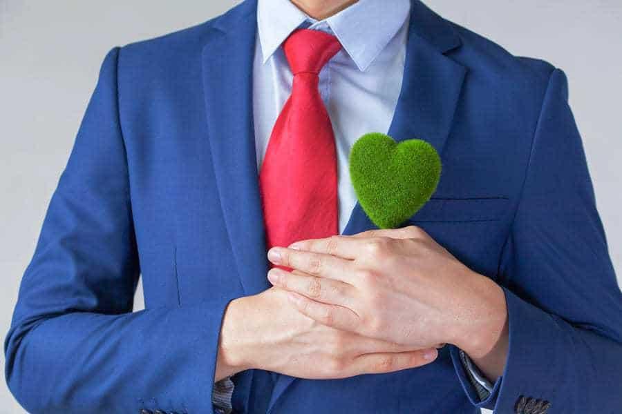 green business man