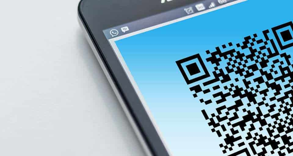 vcash QR Code - qr code on smartphone