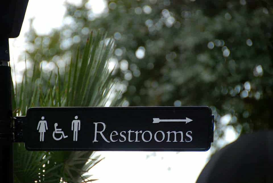 E-toilet QR codes bathroom restroom