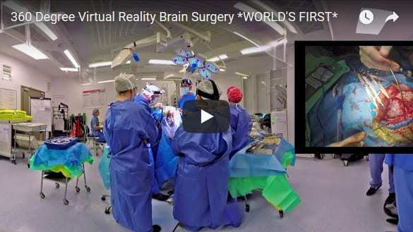 Virtual reality brain surgery recorded for first time for medical students