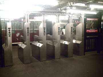 example of turnstiles - QR code metro
