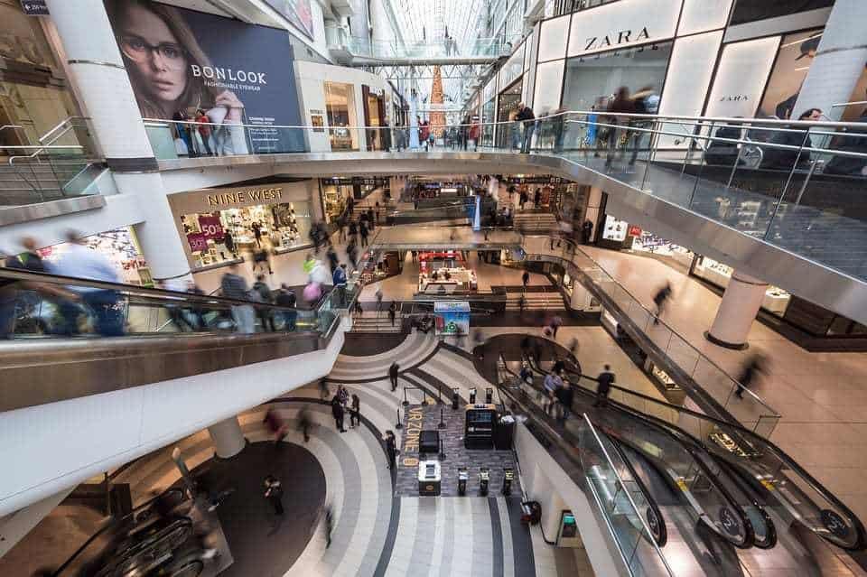shopping mall unionpay qr codes