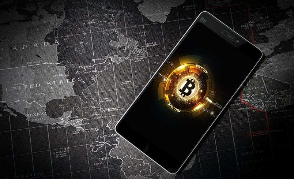 Blockchain technology - Bitcoin mobile digital technology