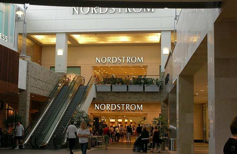 Mobile Shopping Tech - Nordstrom Store in Mall