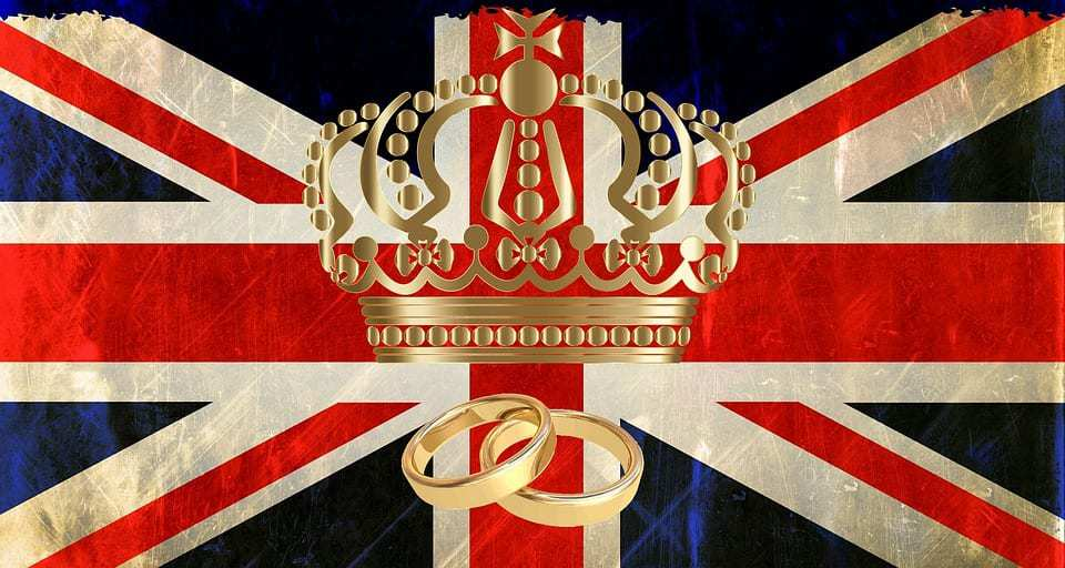 Augmented Reality Royal Wedding - British Flag - Crown - rings