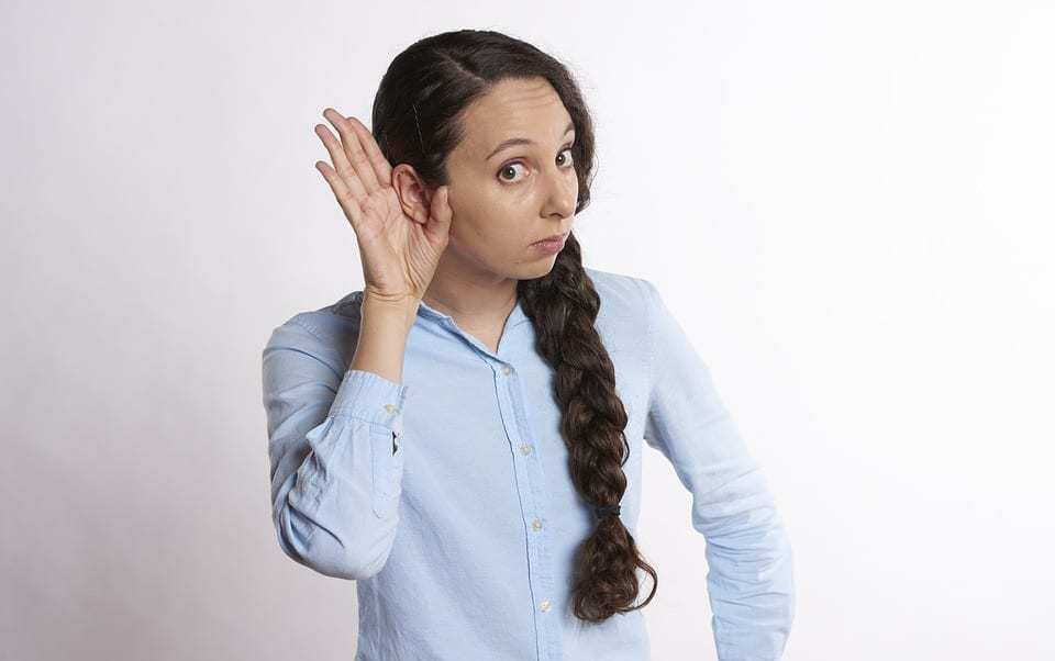 Google smartwatch - Hear New Technology Talk Back - Woman listening