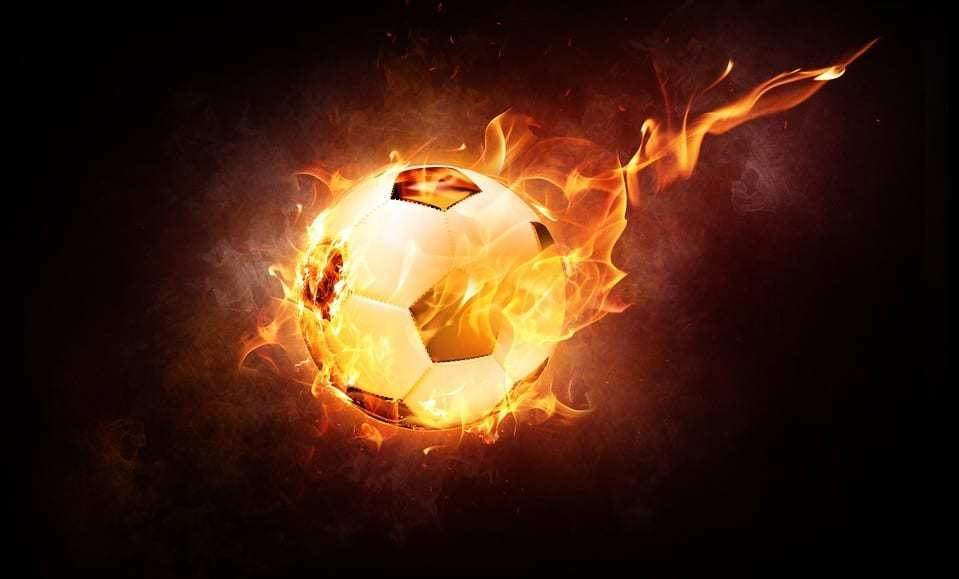 World Cup Travelers - Cybersecurity warning - flaming soccer ball - football