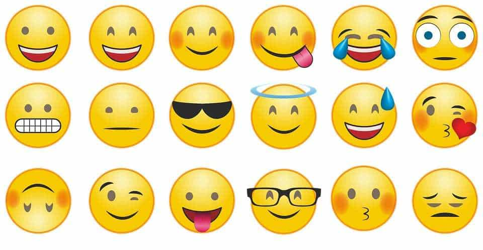 Emoji usage in mobile marketing - emoji smileys