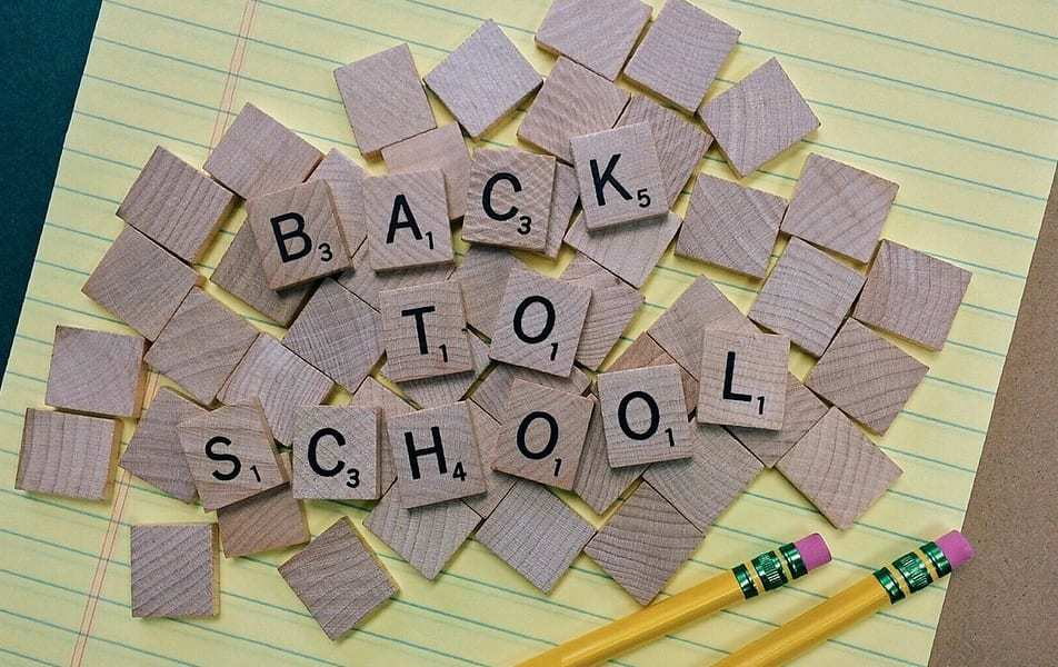 Walmart back-to-school app - Back to school blocks - paper - pencil