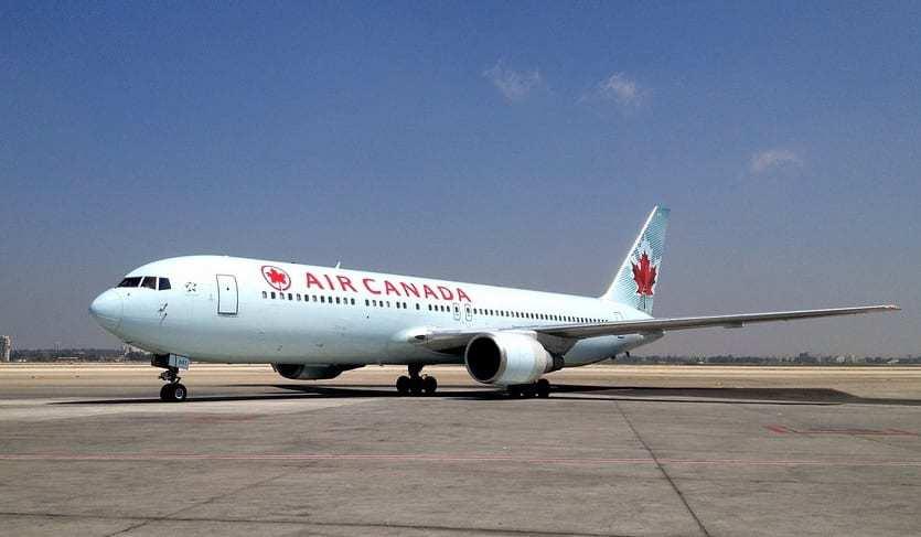 Air Canada Mobile App - Air Canada airplane