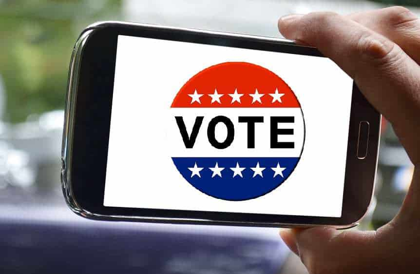 Smartphone voting - US voting via mobile phone