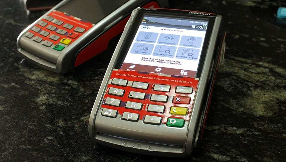 contactless payments - debit machine