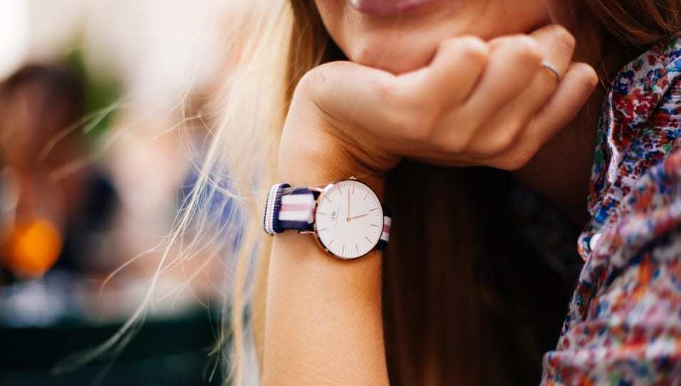Finger-scanning mobile payments - Women wearing watch