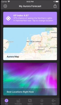 northern lights app with forecast wind sun #northernlights