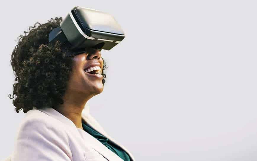 VR Tech - Woman wearing VR Headset