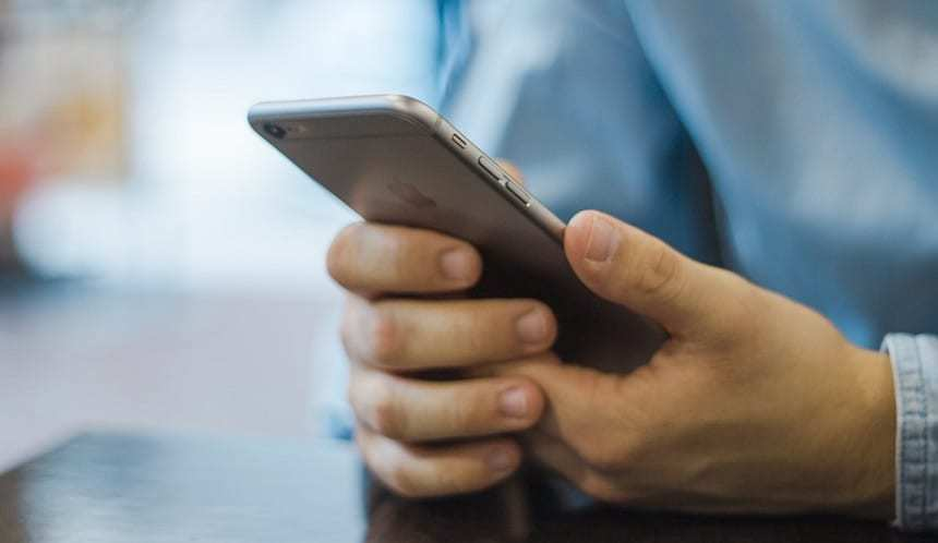 Veterans Health API - Man with iPhone