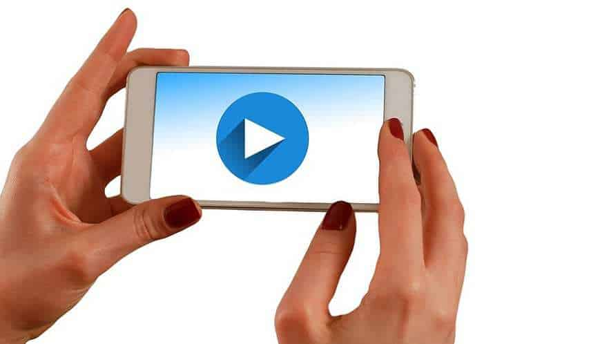Amazon mobile video ads - smartphone - play button