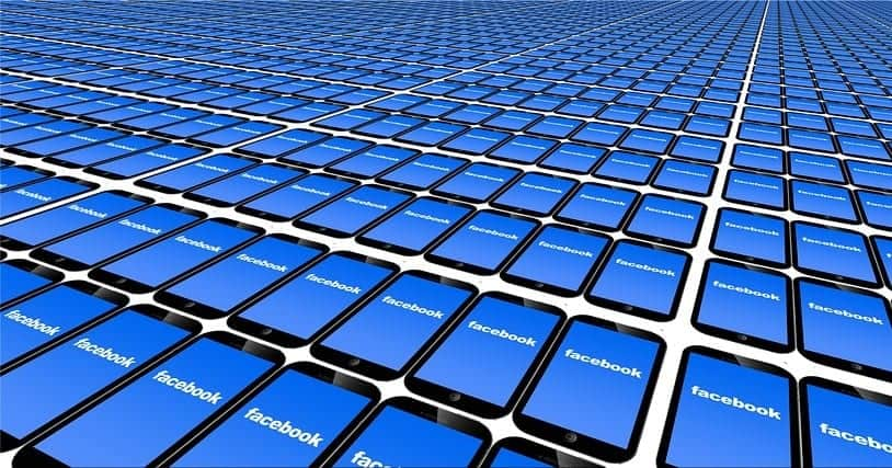 Facebook Payments - Facebook logo on mobile phones