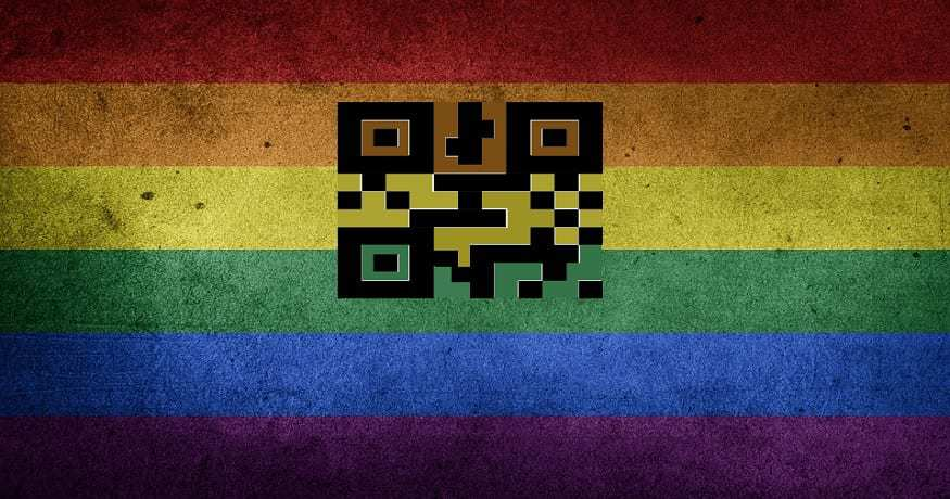LGBTQr Code Campaign - QR Code LGBTQ flag