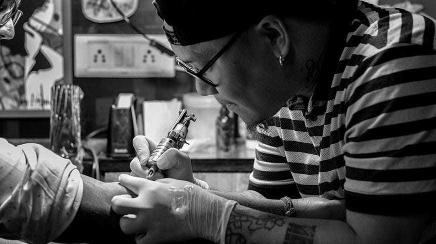 QR Code Tattoo - Tattoo Artist
