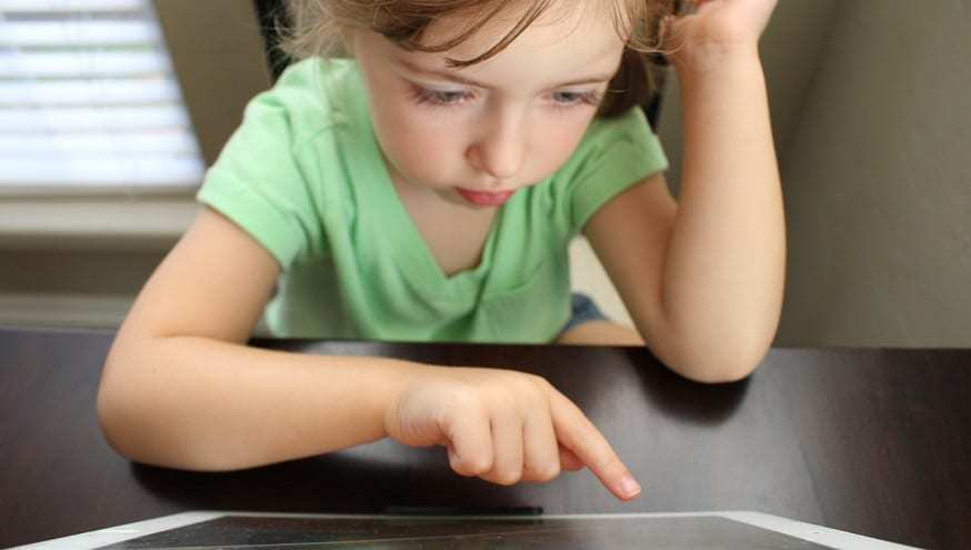 mHealth Wearable Technology - girl with tablet