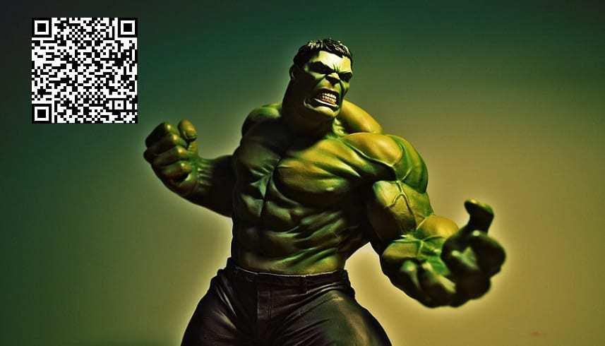Endgame QR Codes - Incredible Hulk - QR Code - Marvel