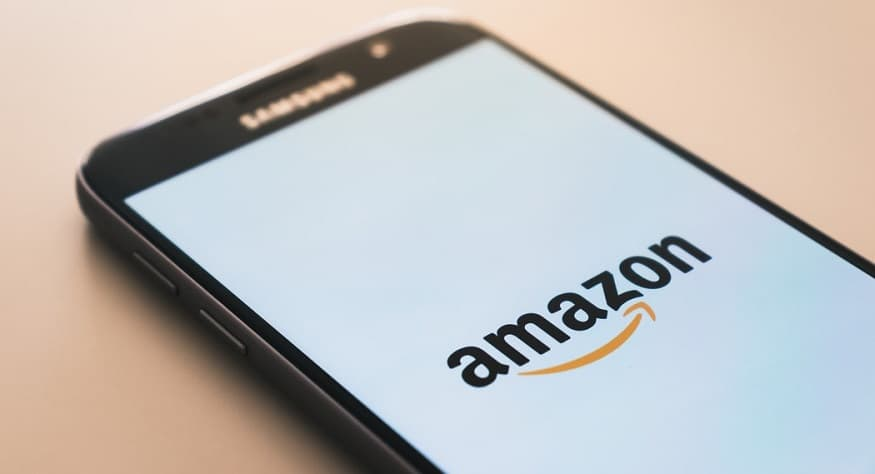 Amazon Spark - Amazon logo on mobile phone