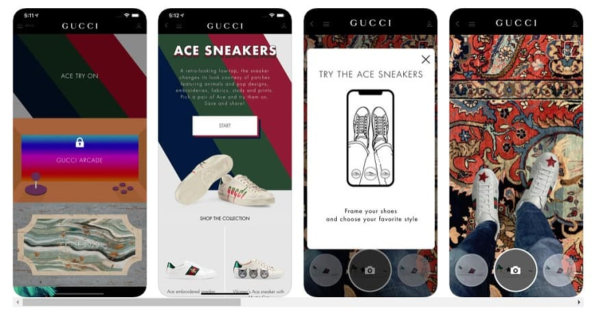 Gucci AR feature - Apple Store screenshot