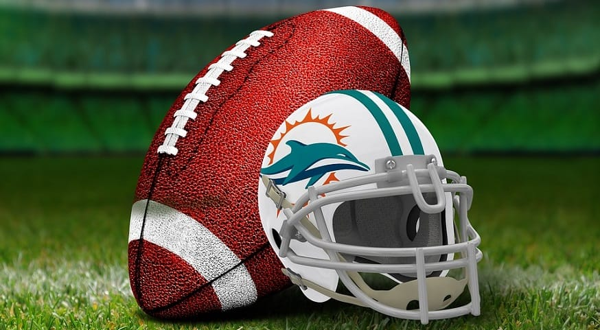 Miami Dolphins cryptocurrency - Miami Dolphins football and helmet